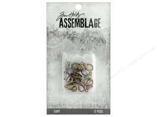 beading & jewelry making supplies: Tim Holtz Assemblage Clasps Lobster Claw Assortment