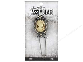 beading & jewelry making supplies: Tim Holtz Assemblage Broach Cameo