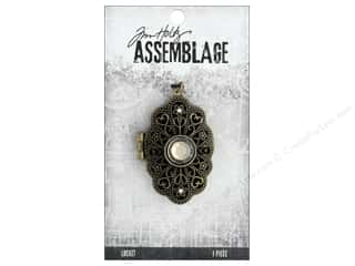 beading & jewelry making supplies: Tim Holtz Assemblage Locket Jeweled Baroque