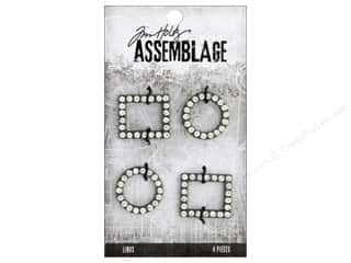 beading & jewelry making supplies: Tim Holtz Assemblage Links Round/Square Crystal Frame