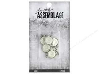 beading & jewelry making supplies: Tim Holtz Assemblage Links Mirror Medallions