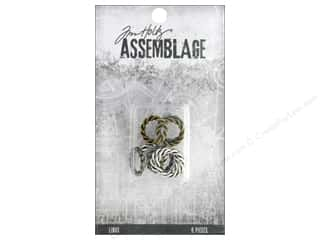 beading & jewelry making supplies: Tim Holtz Assemblage Links Braided Rings