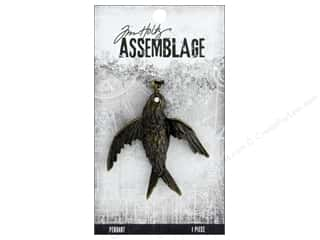 beading & jewelry making supplies: Tim Holtz Assemblage Pendant Bird