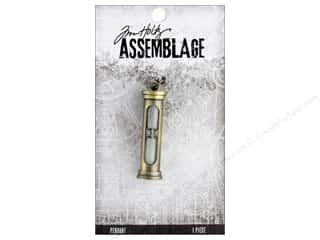 beading & jewelry making supplies: Tim Holtz Assemblage Pendant Hourglass