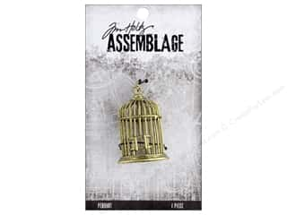 beading & jewelry making supplies: Tim Holtz Assemblage Pendant Birdcage
