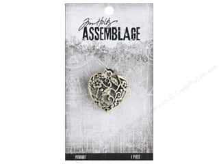 beading & jewelry making supplies: Tim Holtz Assemblage Pendant Ornate Heart