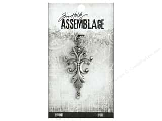 beading & jewelry making supplies: Tim Holtz Assemblage Pendant Damask