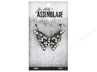 craft & hobbies: Tim Holtz Assemblage Pendant Butterfly