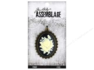 beading & jewelry making supplies: Tim Holtz Assemblage Pendant Cameo Rose