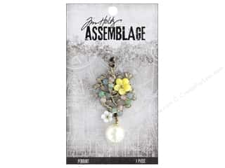 beading & jewelry making supplies: Tim Holtz Assemblage Pendant Jeweled Bouquet