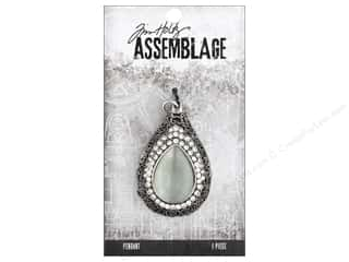 beading & jewelry making supplies: Tim Holtz Assemblage Pendant Dropulet Opal