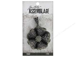 beading & jewelry making supplies: Tim Holtz Assemblage Pendant Ruffled Floral