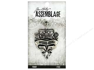 craft & hobbies: Tim Holtz Assemblage Pendant Scroll Heart