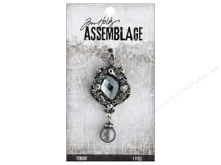 beading & jewelry making supplies: Tim Holtz Assemblage Pendant Jeweled Pendulous