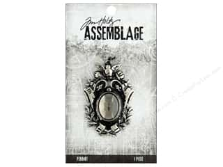 beading & jewelry making supplies: Tim Holtz Assemblage Pendant Crest