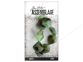 beading & jewelry making supplies: Tim Holtz Assemblage Bracelet Acrylic Jadeite