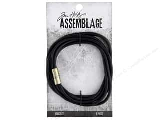 beading & jewelry making supplies: Tim Holtz Assemblage Bracelet Magnetic Cord Black
