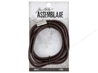 beading & jewelry making supplies: Tim Holtz Assemblage Bracelet Magnetic Cord Brown