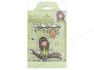 stamps: Docrafts Santoro Gorjuss In The Garden Rubber Stamp Little Leaf