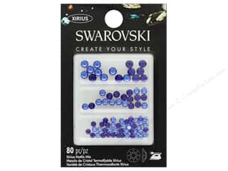 craft & hobbies: Cousin Swarovski Hotfix Mix Cobalt Sapphire 80 pc