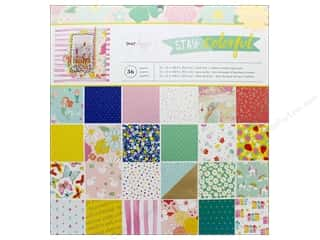 American Crafts Collection Dear Lizzy Stay Colorful Paper Pad 12 in. x 12 in.
