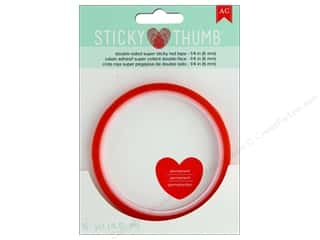 scrapbooking & paper crafts: American Crafts Sticky Thumb Double Sided Super Sticky Red Tape 1/4 in. x 5 yd.