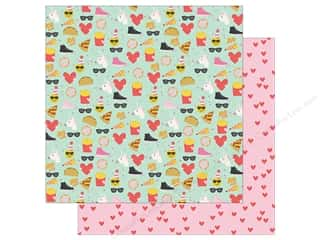scrapbooking & paper crafts: Simple Stories Collection Emoji Love Paper 12 in. x 12 in. Choose Happy (25 pieces)