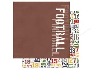Simple Stories Collection Football Paper 12 in. x 12 in. Grid Iron