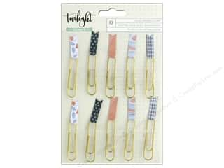 scrapbooking & paper crafts: American Crafts Collection One Canoe Two Twilight Paper Clips Flags