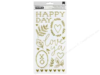Crate Paper Collection Maggie Holmes Flourish Thicker Sticker Puffy Gold