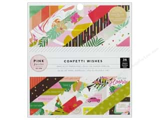 Pink Paislee Collection Confetti Wishes Paper Pad 6 in. x 6 in. Foil Gold