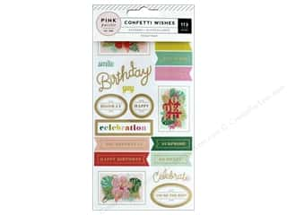 Pink Paislee Collection Confetti Wishes Sticker Book Foil Gold