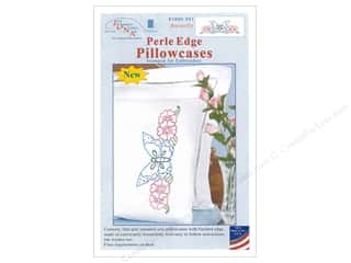yarn & needlework: Jack Dempsey Pillowcase Perle Edge White Butterfly
