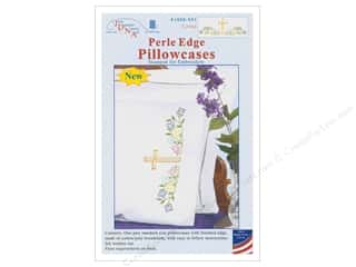 yarn & needlework: Jack Dempsey Pillowcase Perle Edge White Cross