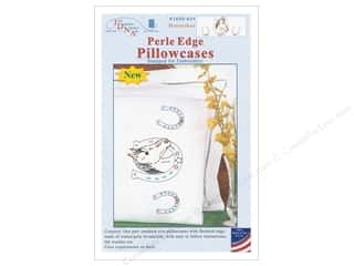 yarn & needlework: Jack Dempsey Pillowcase Perle Edge White Horseshoe