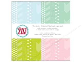 """mint card stock: Avery Elle Paper Pad 6""""x 6"""" Printed Collection Sorbet"""
