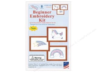 yarn & needlework: Jack Dempsey Beginner Embroidery Kit Unicorn 3 pc