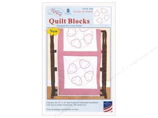 stamps: Jack Dempsey Quilt Block 18 in. White Circle of Hearts 6 pc