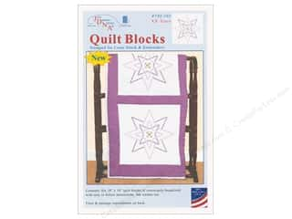 stamps: Jack Dempsey Quilt Block 18 in. White XX Stars 6 pc