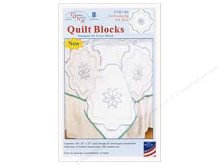 Jack Dempsey Quilt Block 18 in. White Interlocking XX Star 6pc