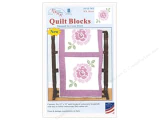 Jack Dempsey Quilt Block 18 in. White XX Rose