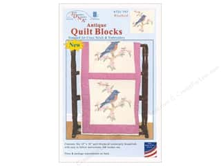 yarn & needlework: Jack Dempsey Quilt Block 18 in. 6 pc Antique Bluebird