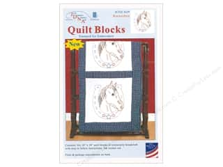 yarn & needlework: Jack Dempsey Quilt Block 18 in. White Horseshoe 6 pc