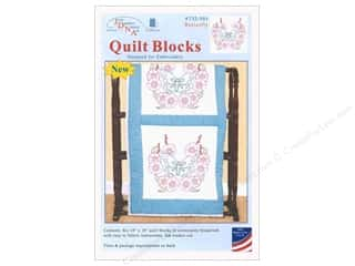 yarn & needlework: Jack Dempsey Quilt Block 18 in. White Butterfly 6 pc