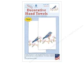 Jack Dempsey Decorative Hand Towel Bluebird 2 pc