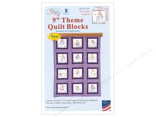 Jack Dempsey 9 in. Theme Quilt Blocks Precious Angel 12 pc