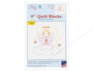 "yarn: Jack Dempsey 9"" Quilt Blocks 12 pc Precious Angel"