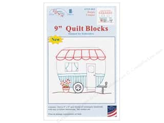 stamps: Jack Dempsey 9 in. Quilt Blocks 12 pc Happy Camper