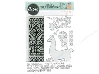 die cuts: Sizzix Die & Emboss Folder Katelyn Lizardi Thinlits With Textured Impressions Como Se Llama