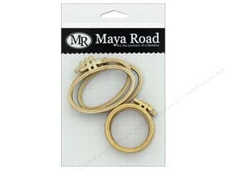 Maya Road Embellishment Wood Mini Embroidery Hoops